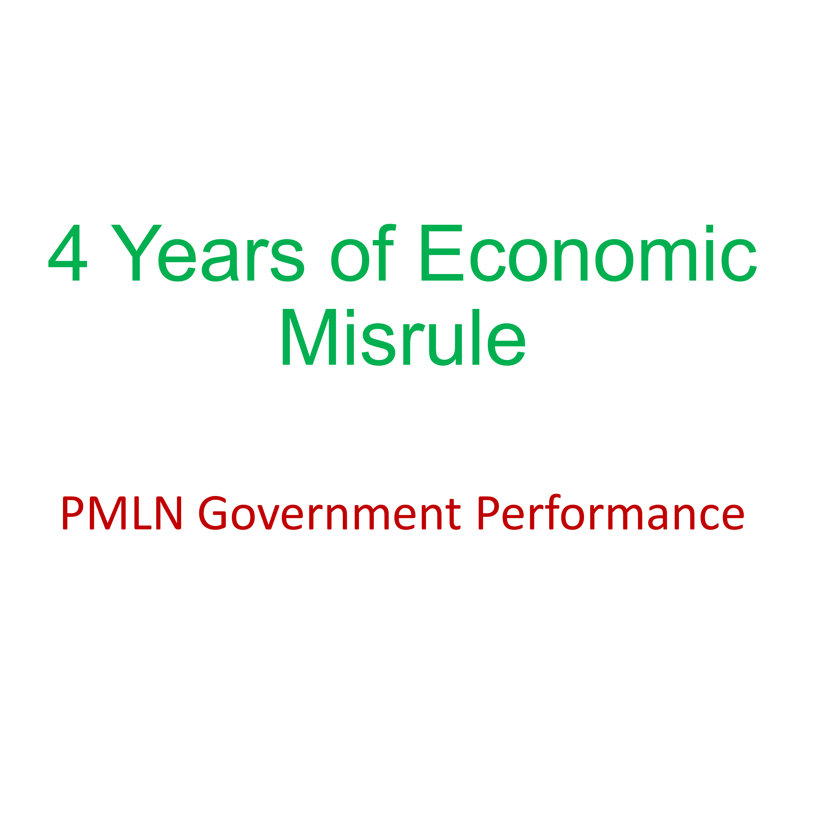 4 Years of Economic Misrule of PMLN Government Performance